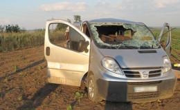 На Буковині трагічне ДТП: на автошляху перекинувся «Нісан»