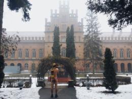 У Чернівцях турист сфотографувався оголеним на фоні головного корпусу ЧНУ