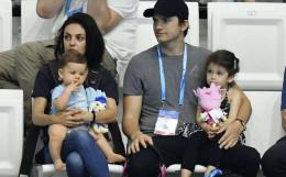 Відома акторка з Буковини Міла Куніс з чоловіком та дітьми відвідала Чемпіонат світу з водних видів спорту
