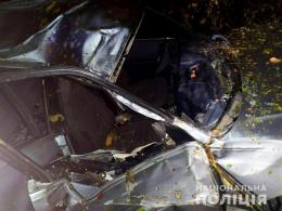 """На Буковині водій на """"Ауді"""" не впорався з керуванням та заїхав в кювет (фото)"""