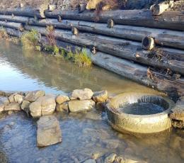 На Буковині невідомі знову відвели русло річки біля форелевого заводу