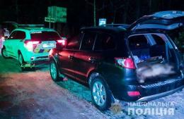 На Буковині зупинили авто браконьєрів із вбитими косулями