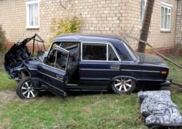 На Буковині п'яні молодики на ВАЗі потрапили в ДТП