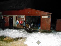 На Буковині чоловік після сварки підпалив гараж колишнього тестя
