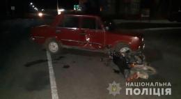 47-річний водій автомобіля «ВАЗ» на Буковині збив 25-річного мотоцикліста