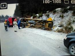 Перекинувся мікроавтобус із буковинськими заробітчанами, постраждали троє людей