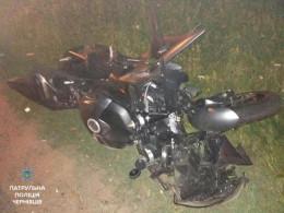 Патрульні у Чернівцях знайшли водія мотоцикла, який наїхав на пішохода та втік з місця вчинення ДТП