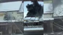 На Буковині сталася масштабна пожежа на станції техобслуговування (відео)
