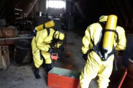 У Чернівцях на території підприємства в Садгорі розлилась хімічна речовина