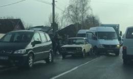 На трасі у Боянах зіткнулися чотири автівки
