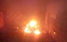 На Максимовича в палаючій будівлі виявили тіло невідомого чоловіка