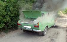 На Буковині на дорозі загорівся