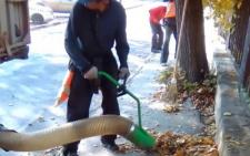 У Чернівцях комунальники показали пилосос, яким вони прибирають листя з вулиць (відео)