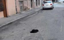 У Чернівцях знову провалився асфальт на вулиці