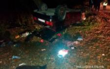 «ВАЗ» з'їхав з дороги в кювет і перекинувся, загинула 35-річна жінка (фото)