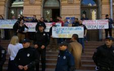 У Чернівцях група румунських організацій пікетує ОДА через мовний закон