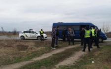 На Буковині поліція шукала зброю й вибухівку у автобусі «Нацкорпусу» (фото()